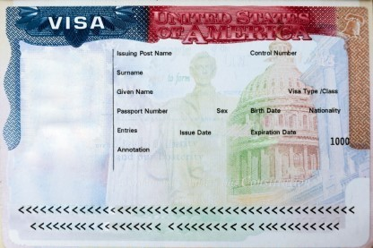 Passport with USA visa